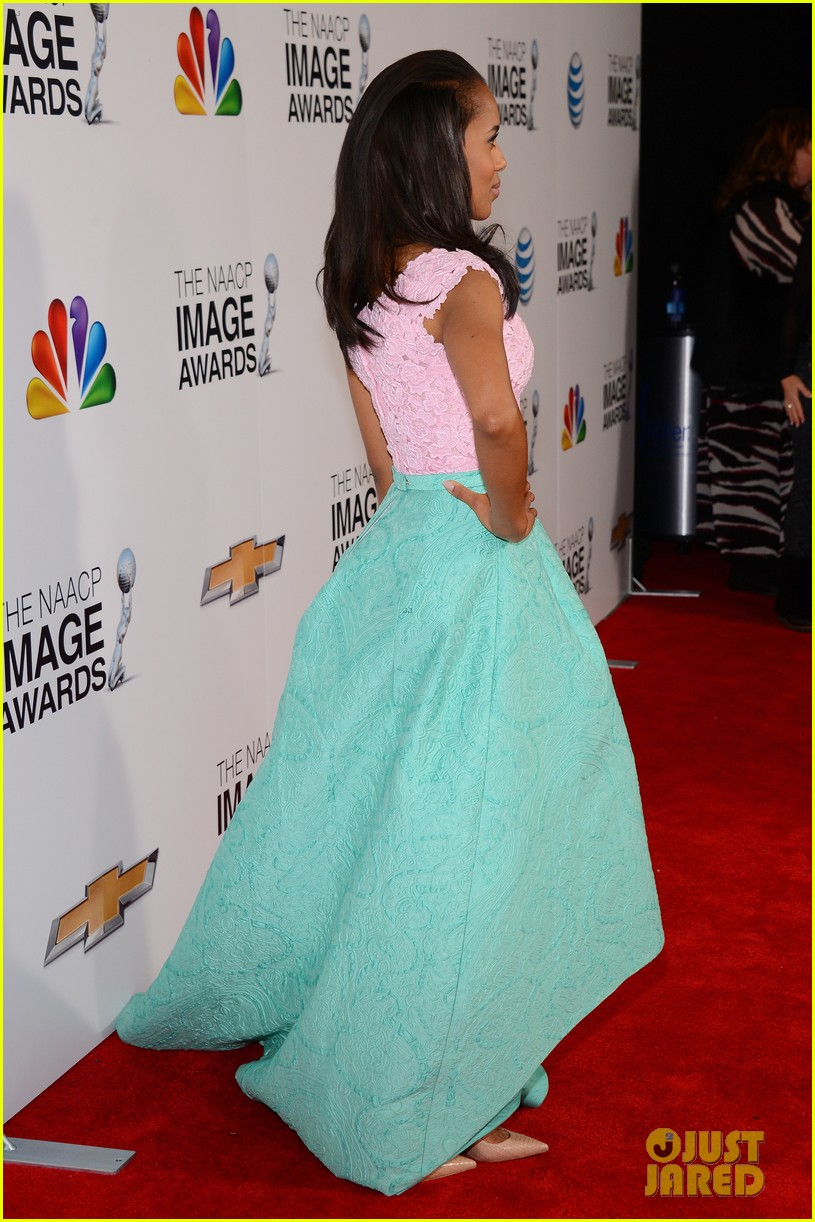 kerry washington naacp image awards 2013 red carpet 172802746