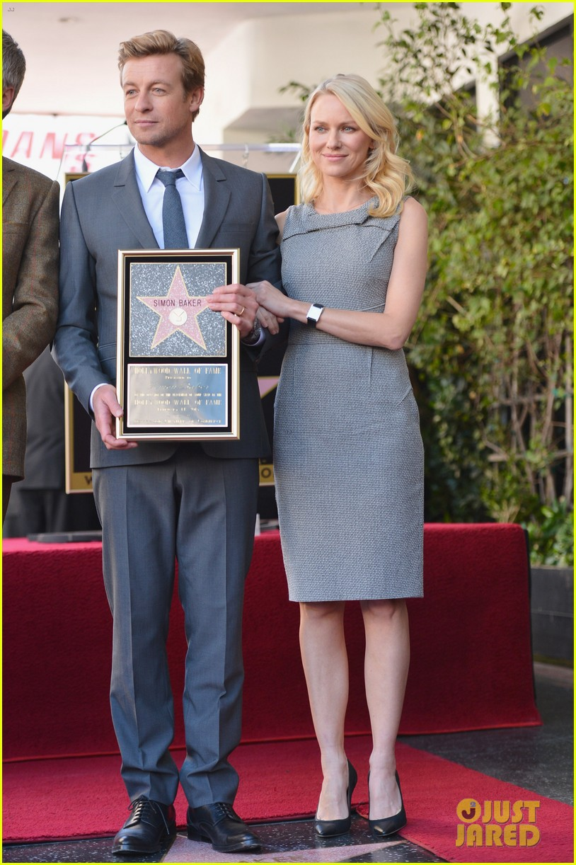 naomi watts simon baker walk of fame ceremony 012812256