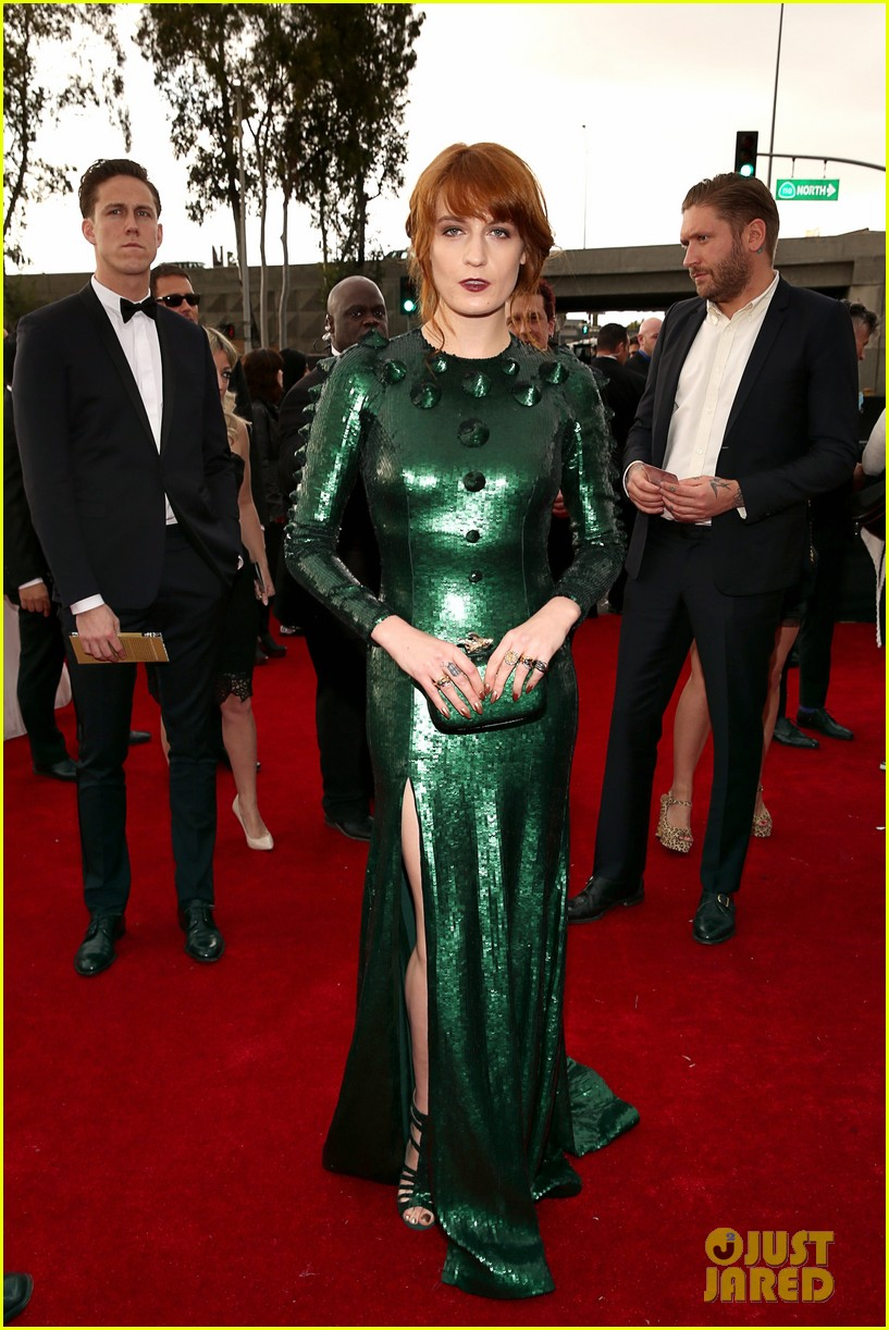 florence welch grammys 2013 red carpet 012809333