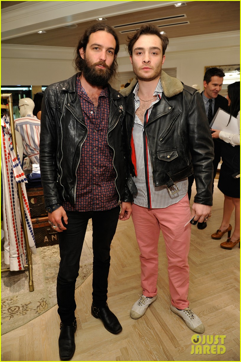 ed westwick neil patrick harris tommy hilfiger store opening 102811981