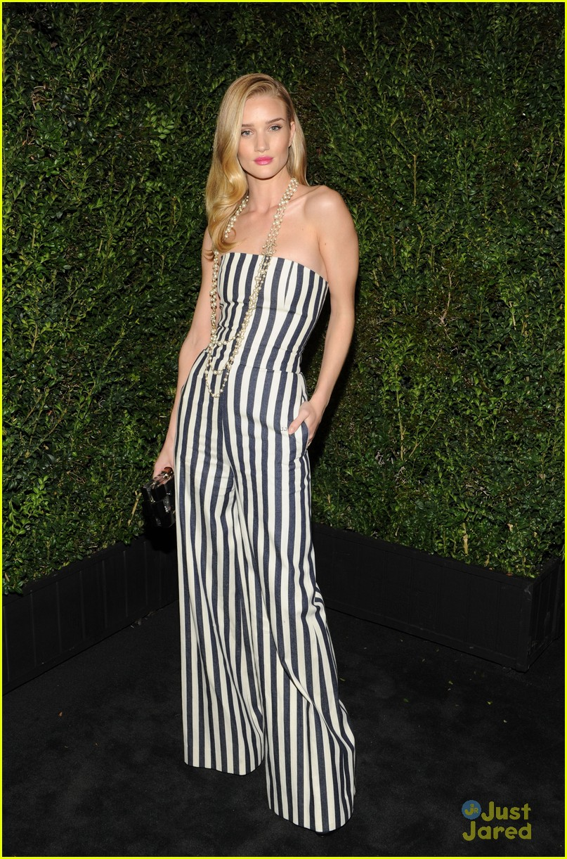 rosie huntington whiteley felicity jones chanel pre oscars party 2013 01