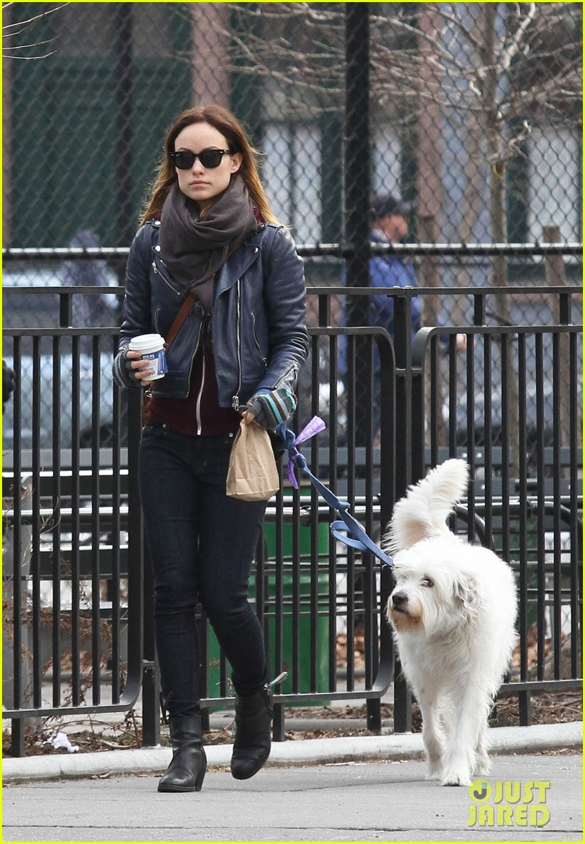 olivia wilde jason sudeikis big apple dog walk 04