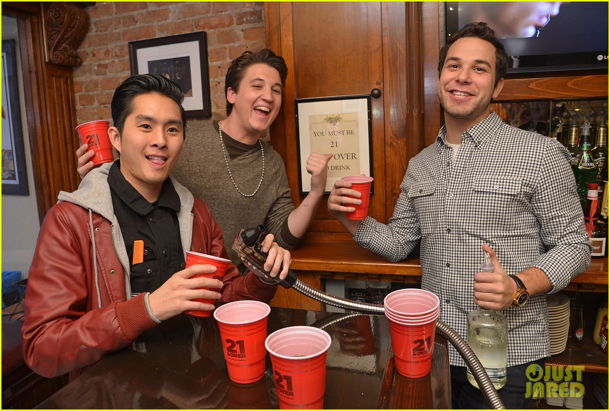 miles teller skylar astin justjared exclusive interview 04