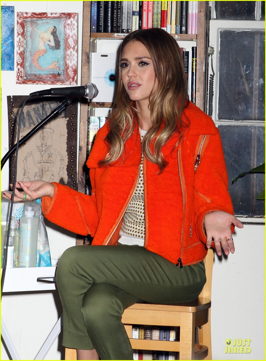 jessica alba honest life book promotion in new york 292829771
