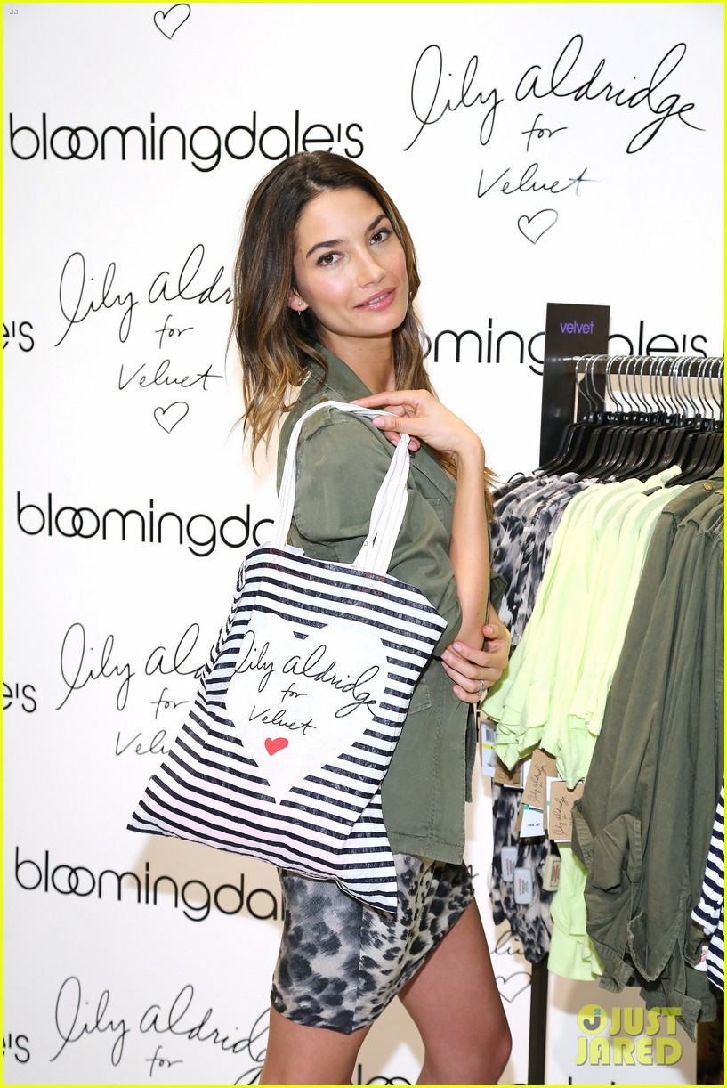 lily aldridge velvet collection launch at bloomingdales 022835334