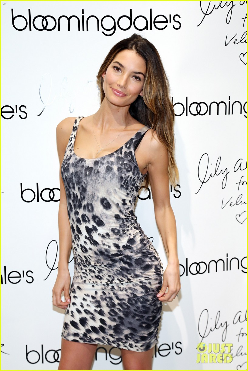 lily aldridge velvet collection launch at bloomingdales 062835338