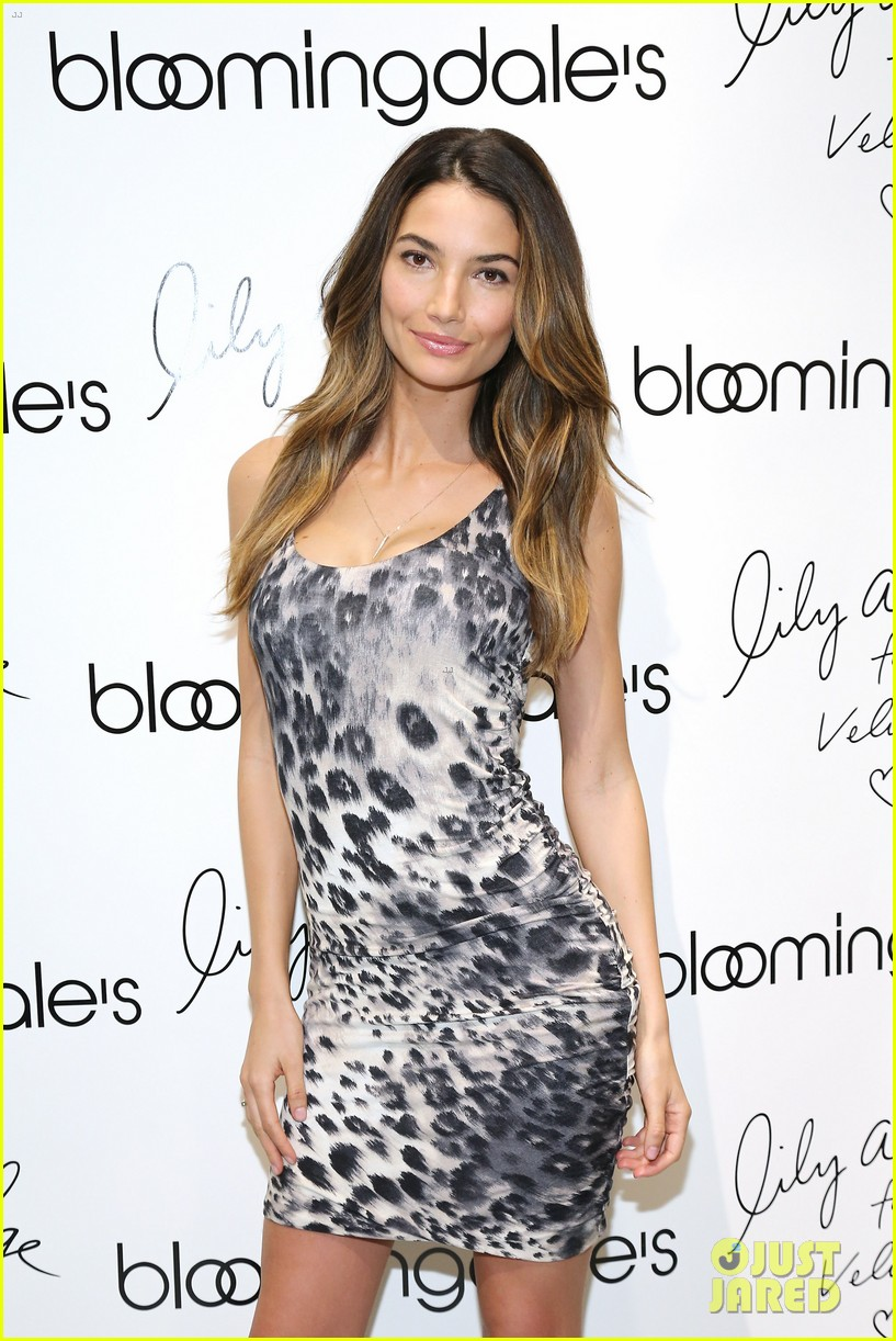 lily aldridge velvet collection launch at bloomingdales 072835339