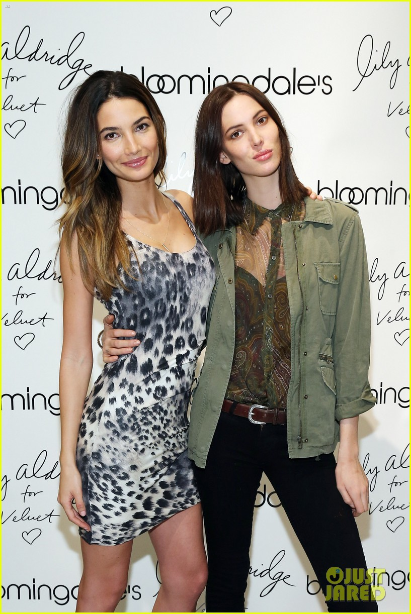 lily aldridge velvet collection launch at bloomingdales 112835343