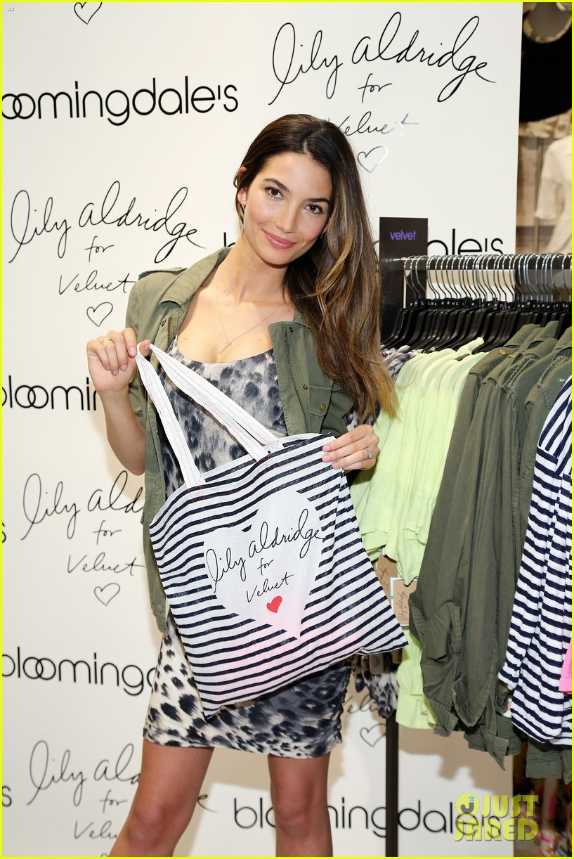 lily aldridge velvet collection launch at bloomingdales 132835345
