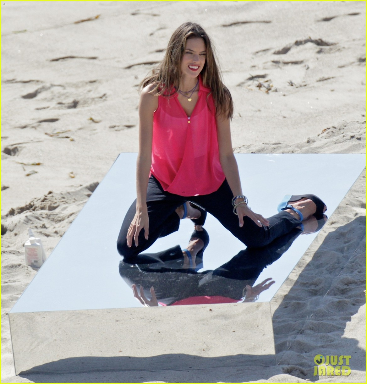 alessandra ambrosio bikini photo shoot in malibu beach 142829307