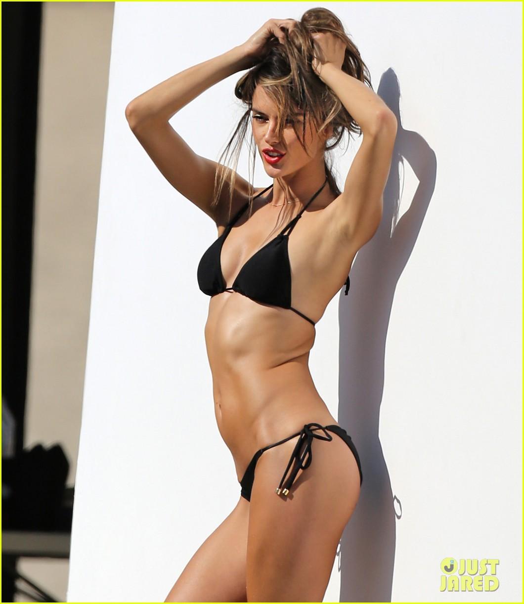 alessandra ambrosio bikini photo shoot in malibu beach 162829309