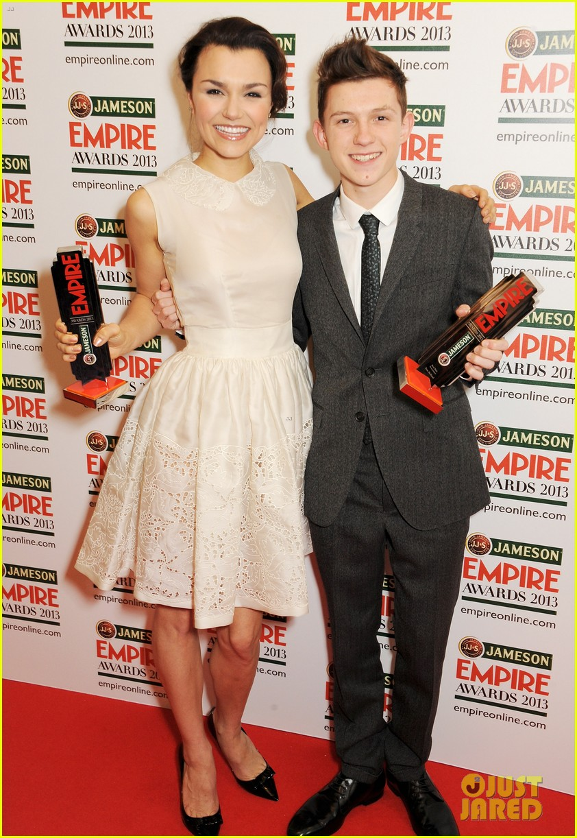 samantha barks tom holland empire awards winners 032837644