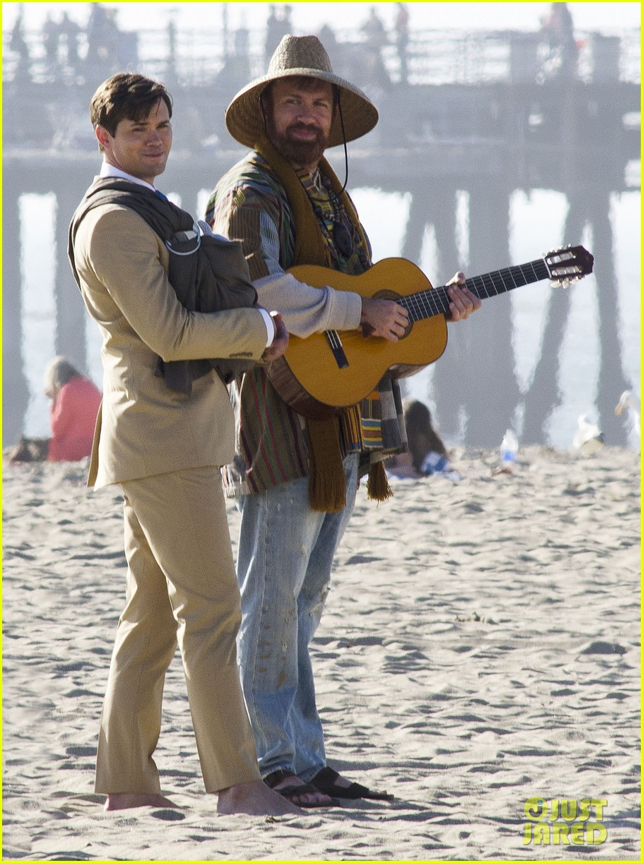 andrew rannells justin bartha new normal beach filming 182829463