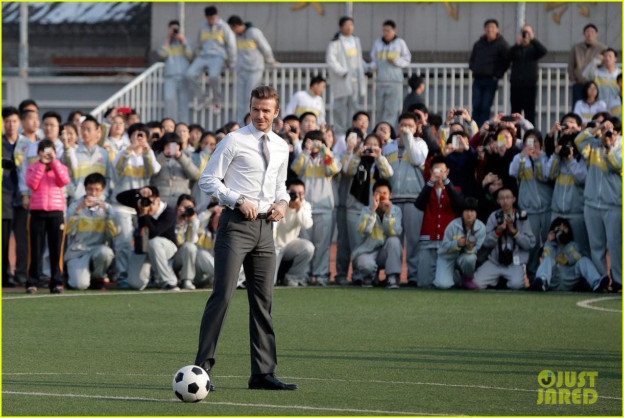 david beckham beijing guoan football club visit 022834931