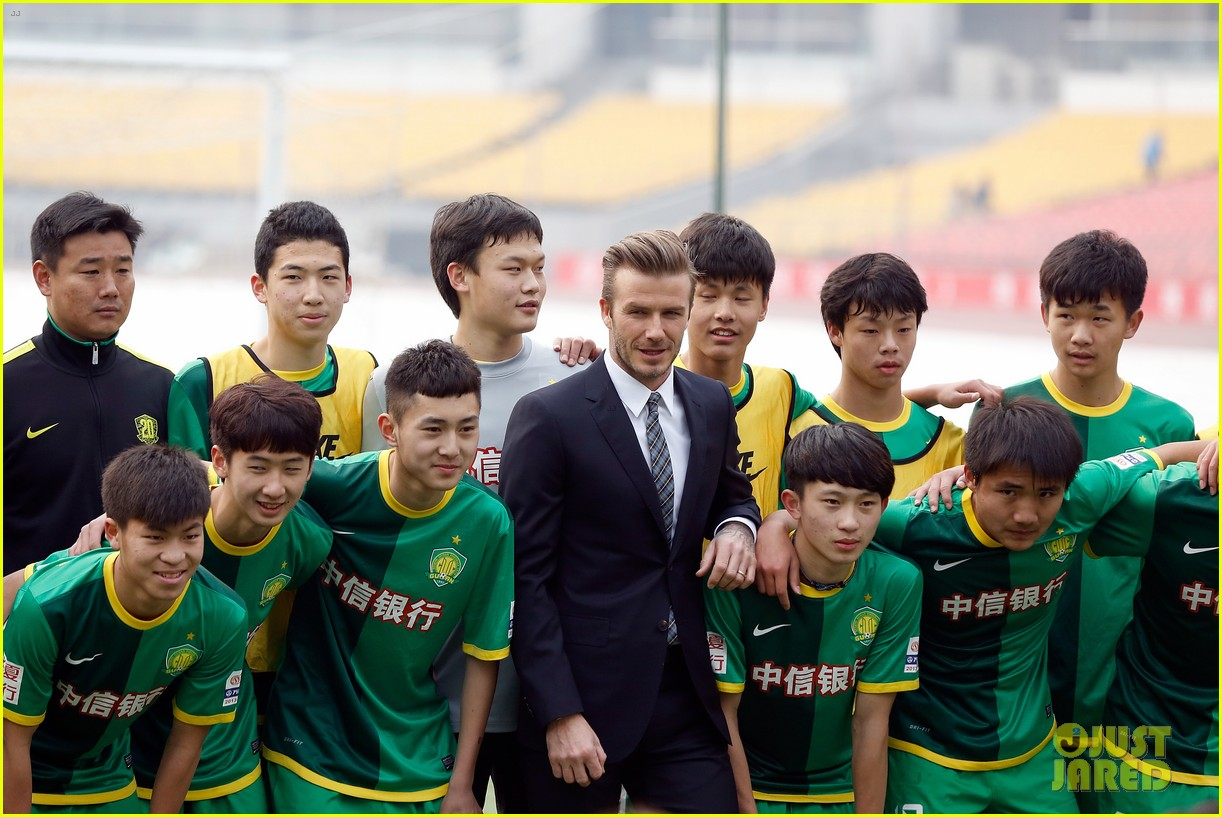 david beckham beijing guoan football club visit 042834933