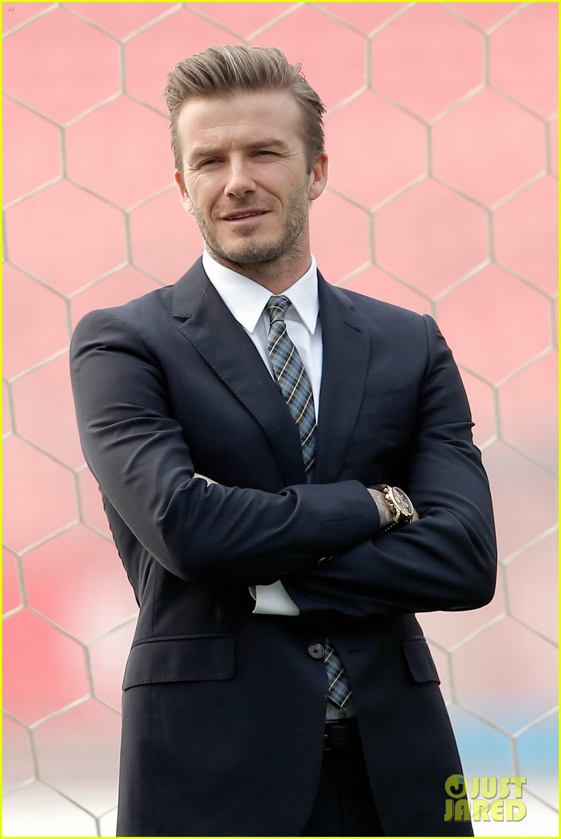 david beckham beijing guoan football club visit 052834934