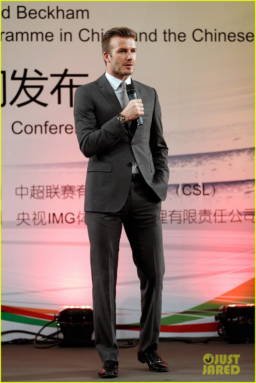 david beckham beijing guoan football club visit 11