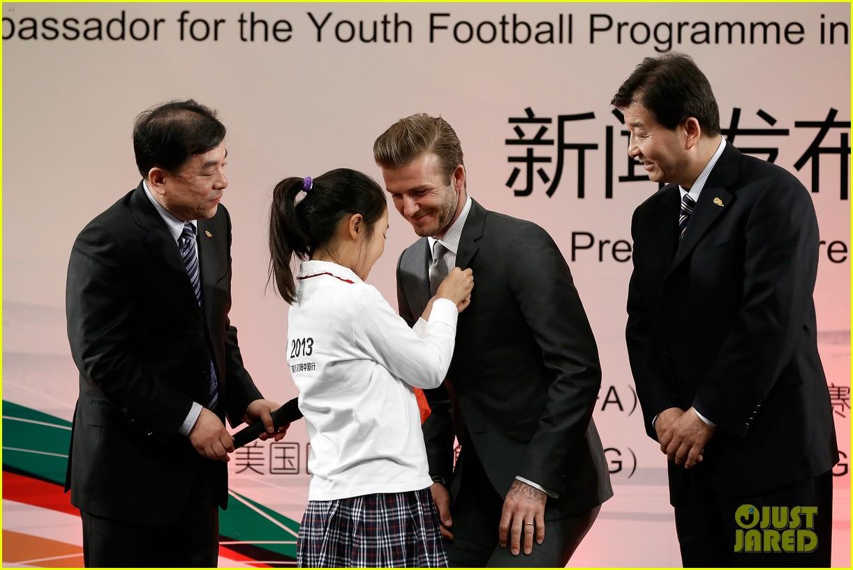 david beckham beijing guoan football club visit 132834942