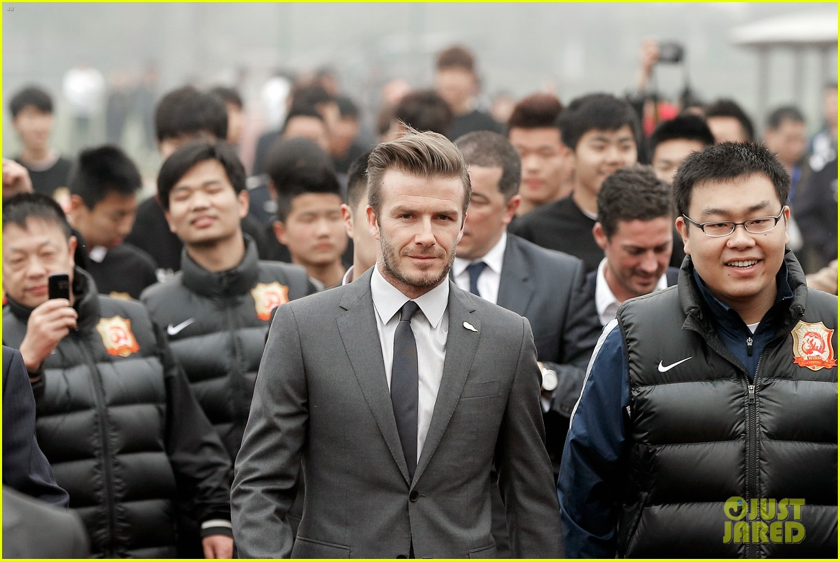david beckham flashes shirtless body at university visit 072836838