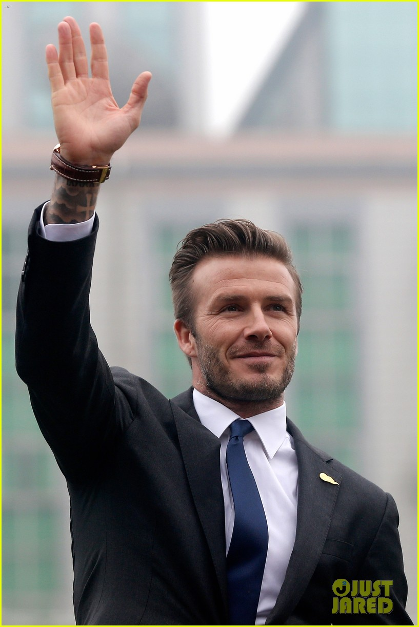 david beckham flashes shirtless body at university visit 152836846