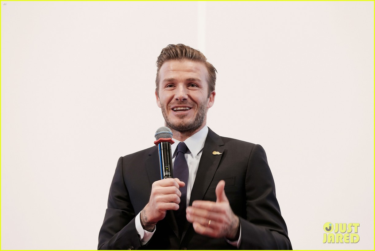 david beckham flashes shirtless body at university visit 252836856