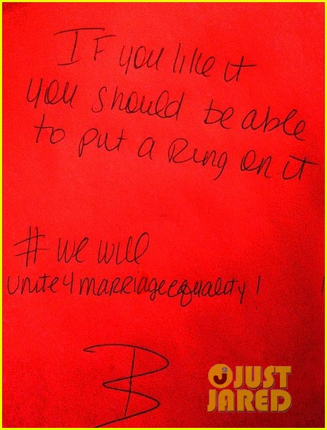 beyonce writes handwritten note in support of marriage equality 012838581