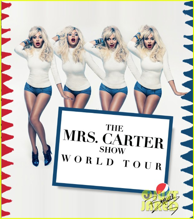 beyonce blonde for mrs carter world tour promo pic 012825560