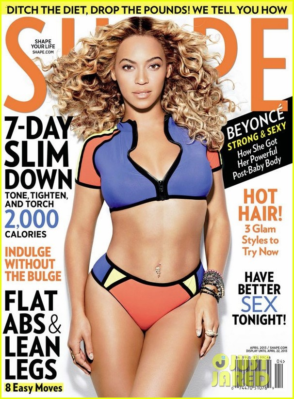 beyonce flaunts bikini body for shape april 2013