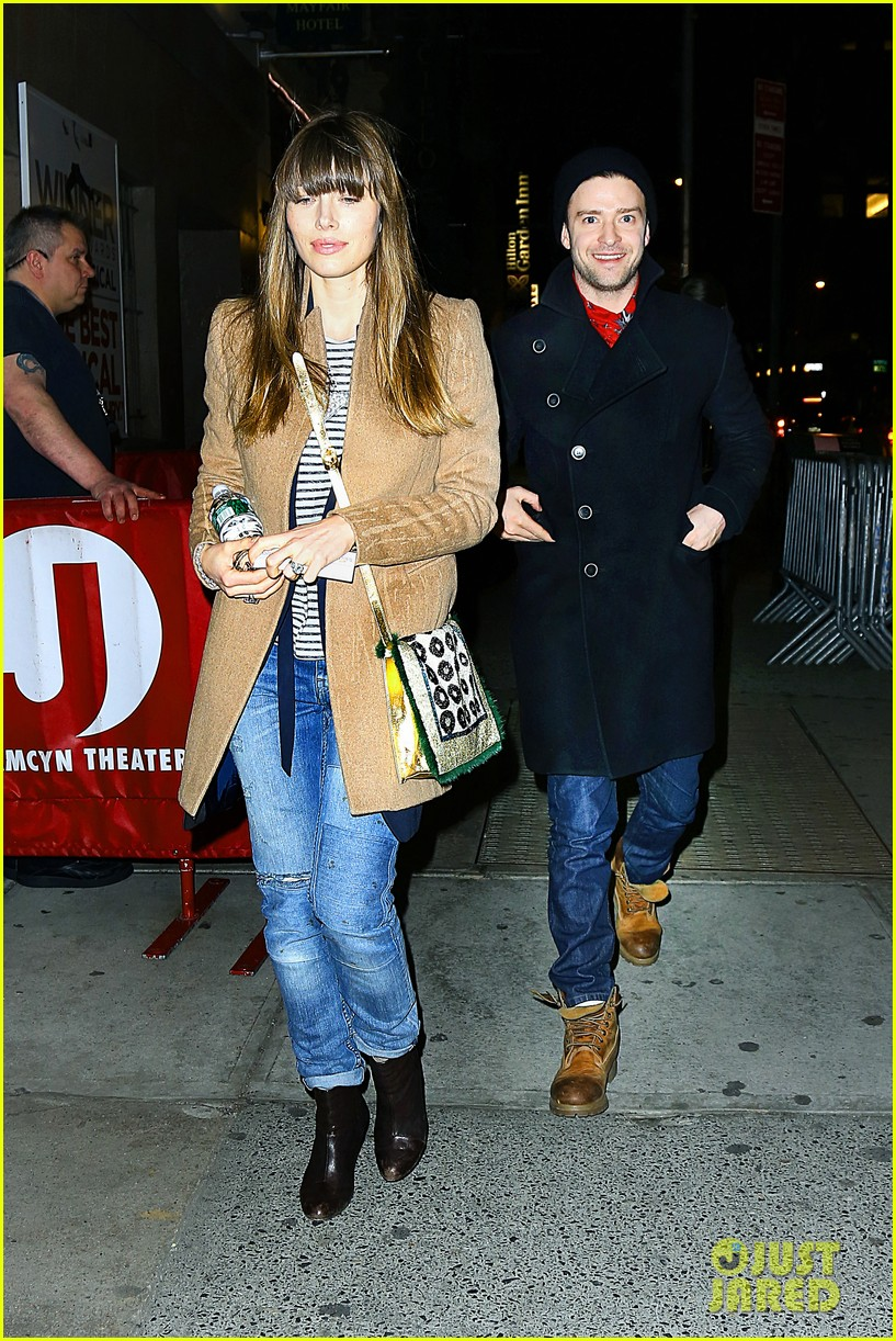 jessica biel justin timberlake book of mormon date night 03.2833412