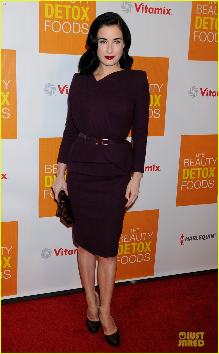matt bomer dita von teese the beauty detox book launch party 102838460