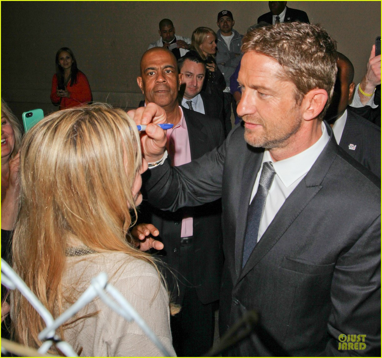 gerard butler vanessa hudgens jimmy kimmel live promoting duo 272834136