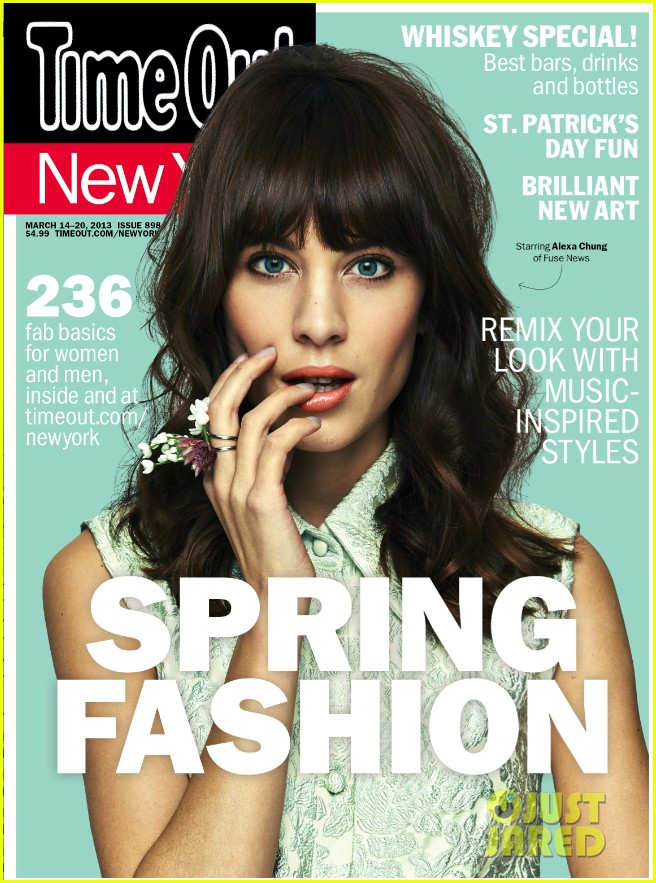 alexa chung covers time out new yorks spring fashion issue 012830449