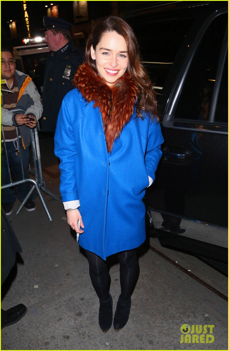 emilia clarke breakfast at tiffanys first preview 032825512