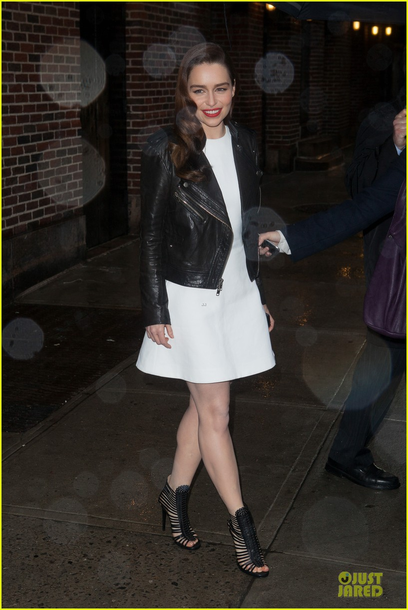 emilia clarke late show with david letterman taping 022829635