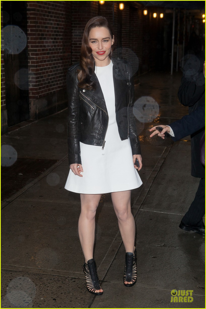 emilia clarke late show with david letterman taping 04