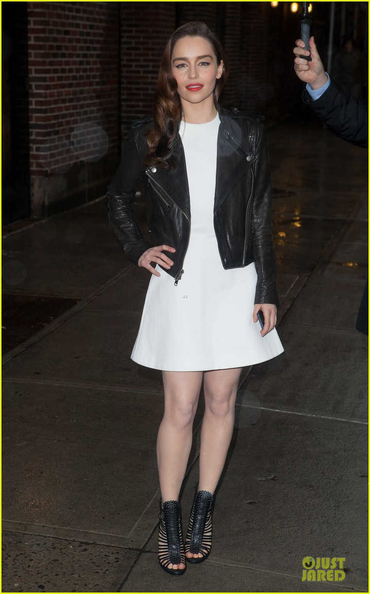 emilia clarke late show with david letterman taping 052829638