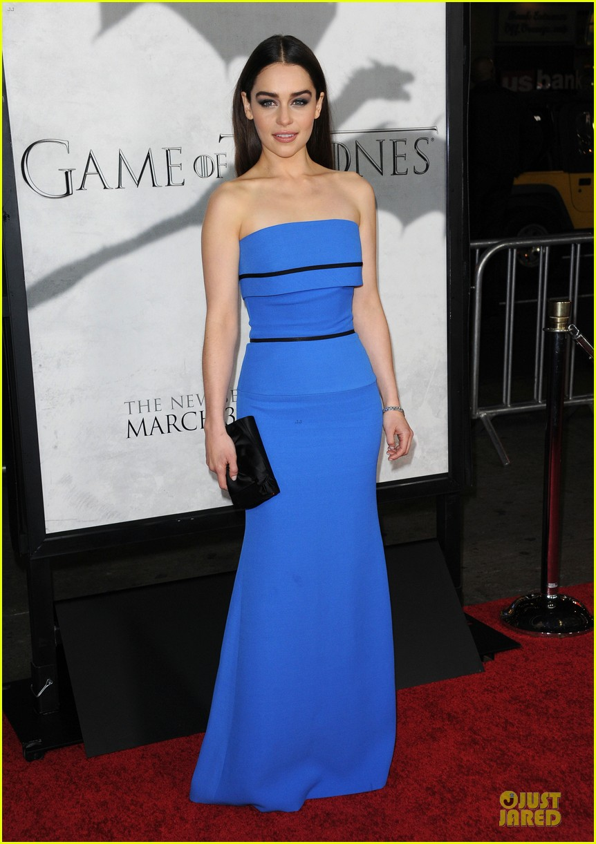 emilia clarke game of thrones season 3 premiere party 182833171