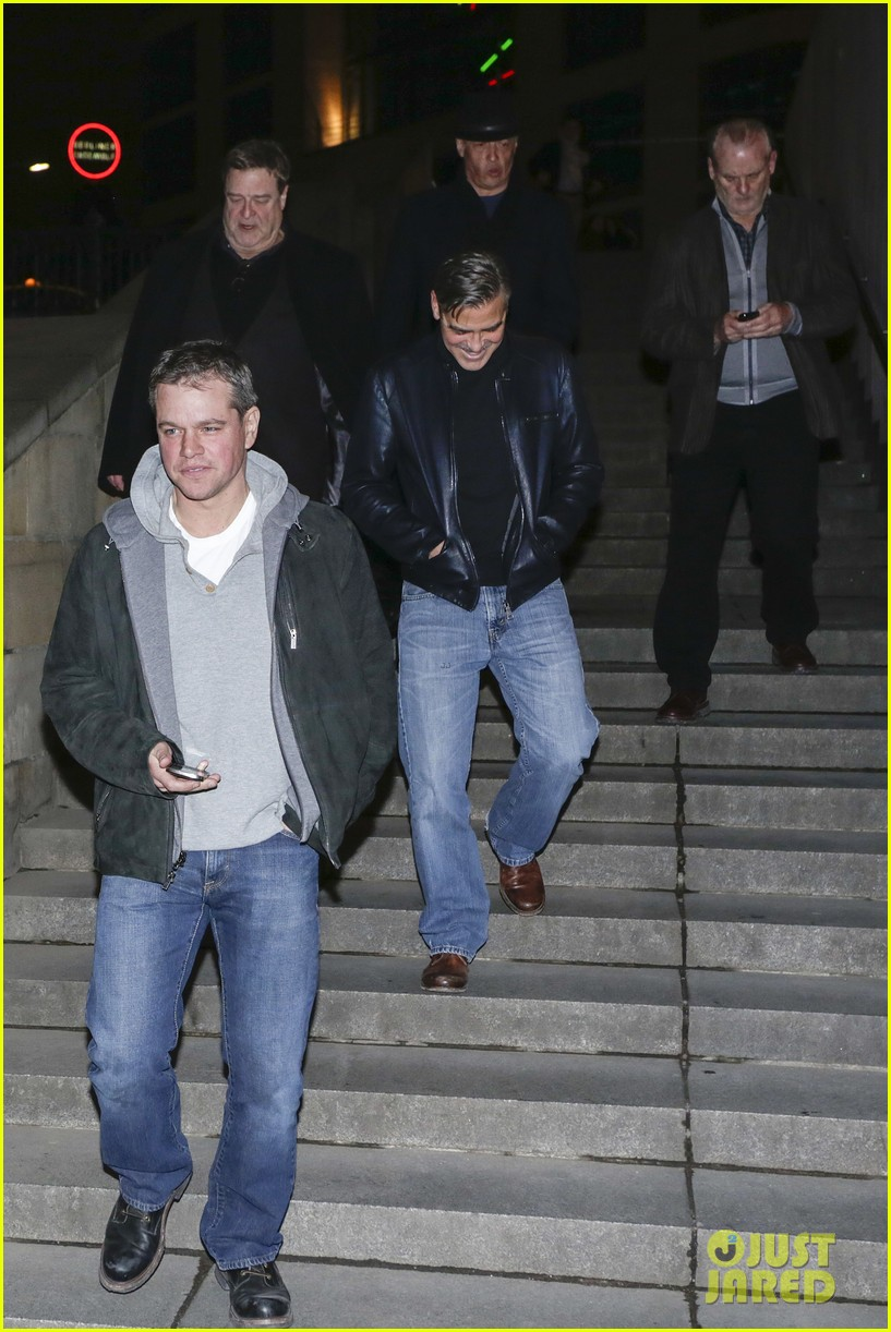 george clooney matt damon berlin buddies 04