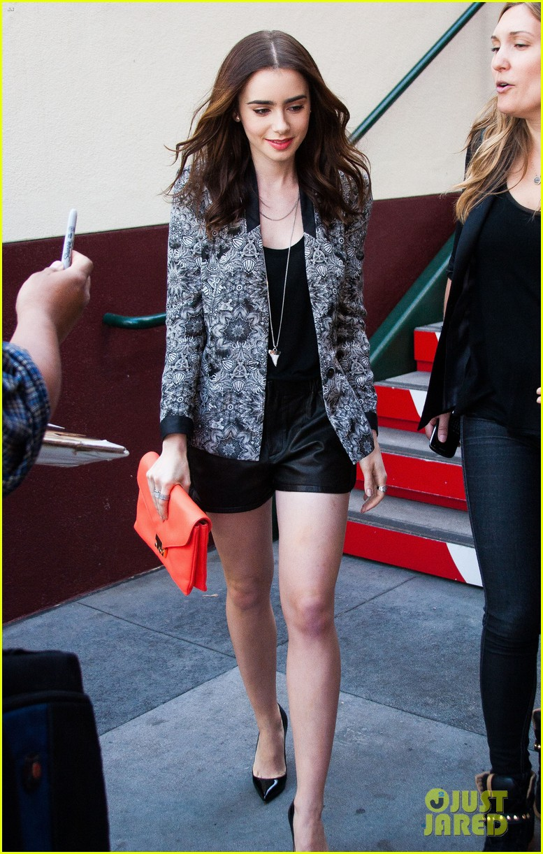 lily collins extra appearance with michael angarano 032838999