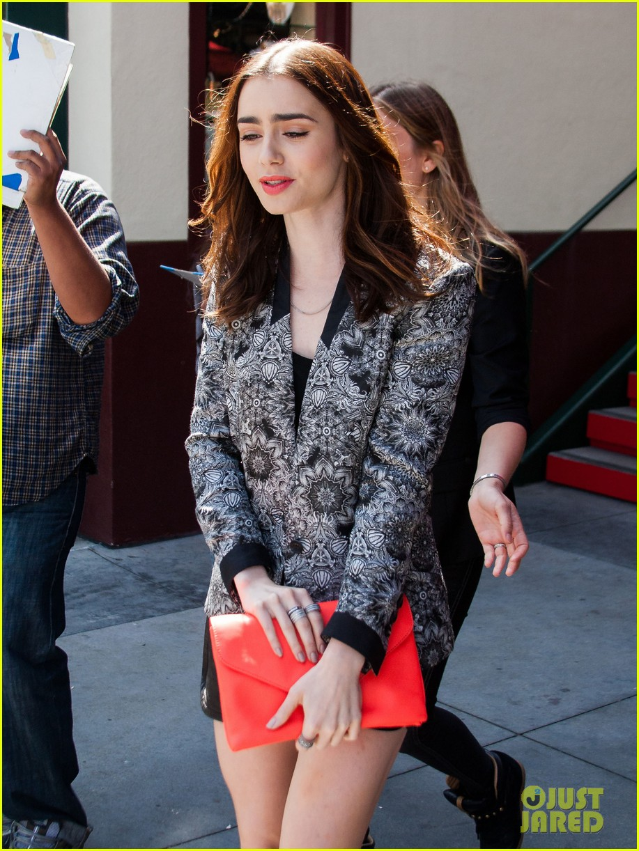 lily collins extra appearance with michael angarano 082839004