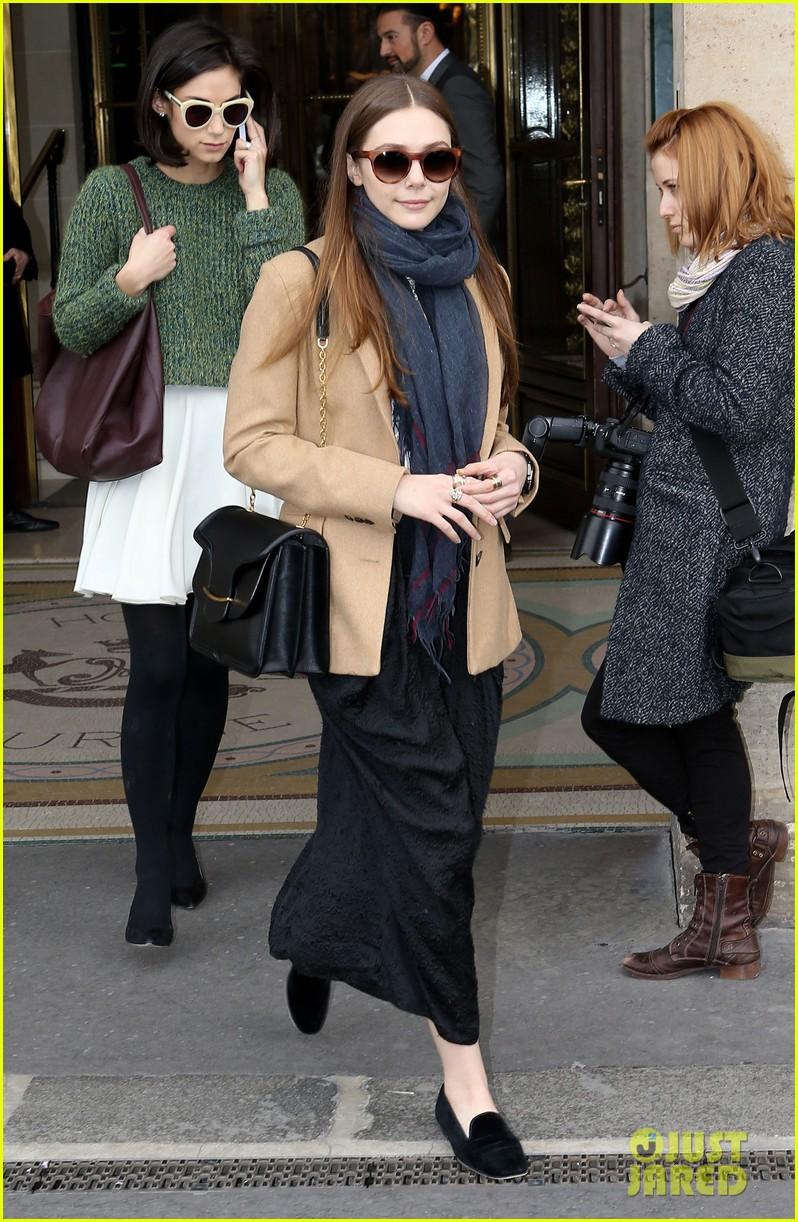 lily collins elizabeth olsen paris fashion week fun 062826389