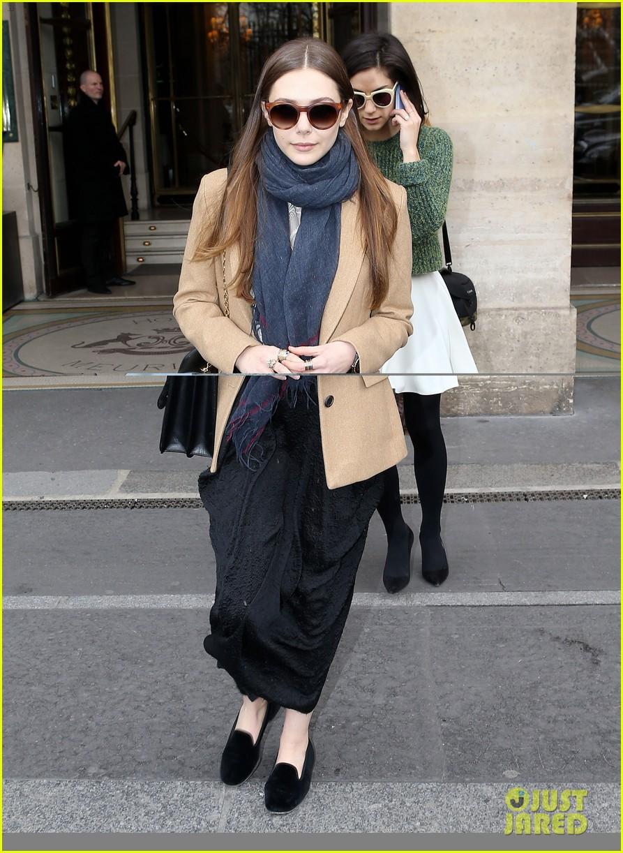 lily collins elizabeth olsen paris fashion week fun 072826390