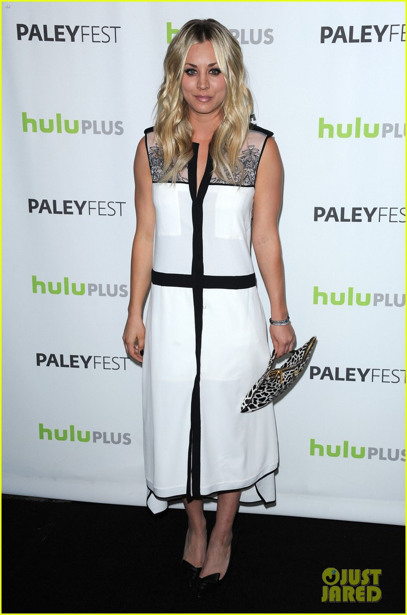 kaley cuoco jim parsons big bang theory at paleyfest 012830300