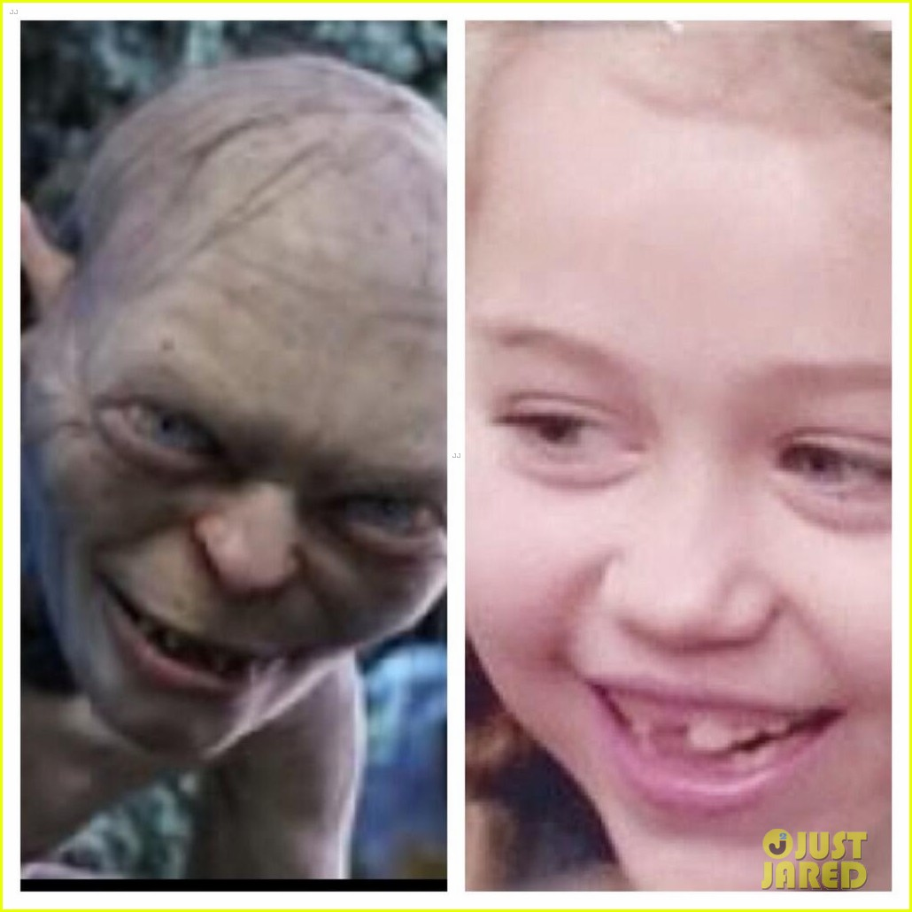 miley cyrus compares her younger self to gollum 032834610