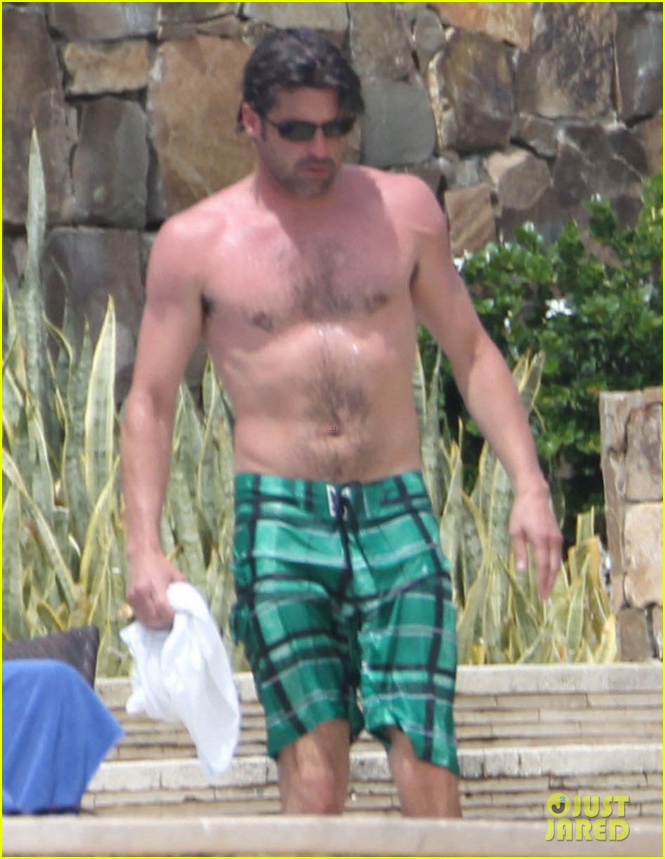 patrick dempsey shirtless family vacation in cabo 022840614