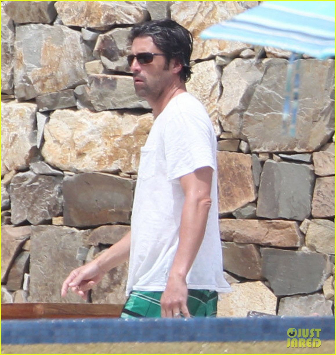 patrick dempsey shirtless family vacation in cabo 17