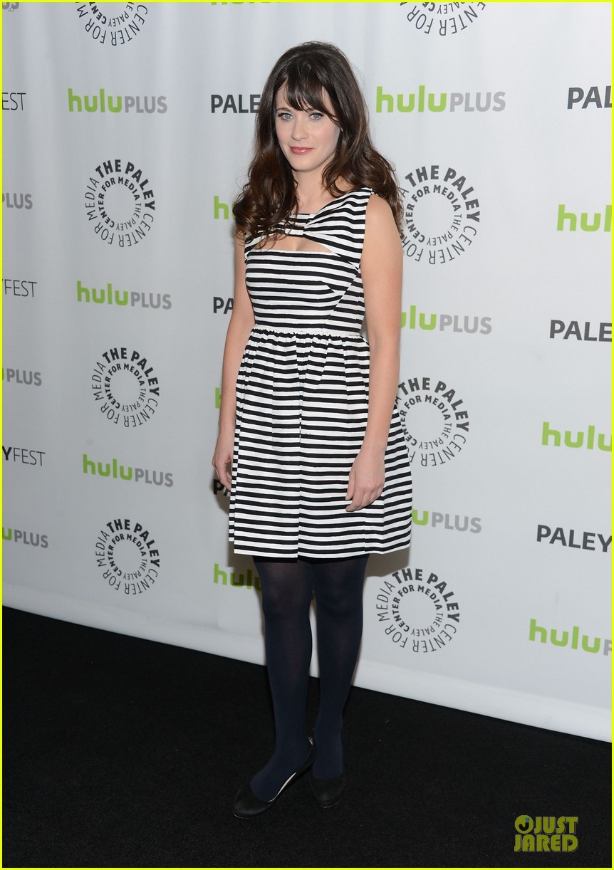 zooey deschanel paleyfest with new girl cast 07