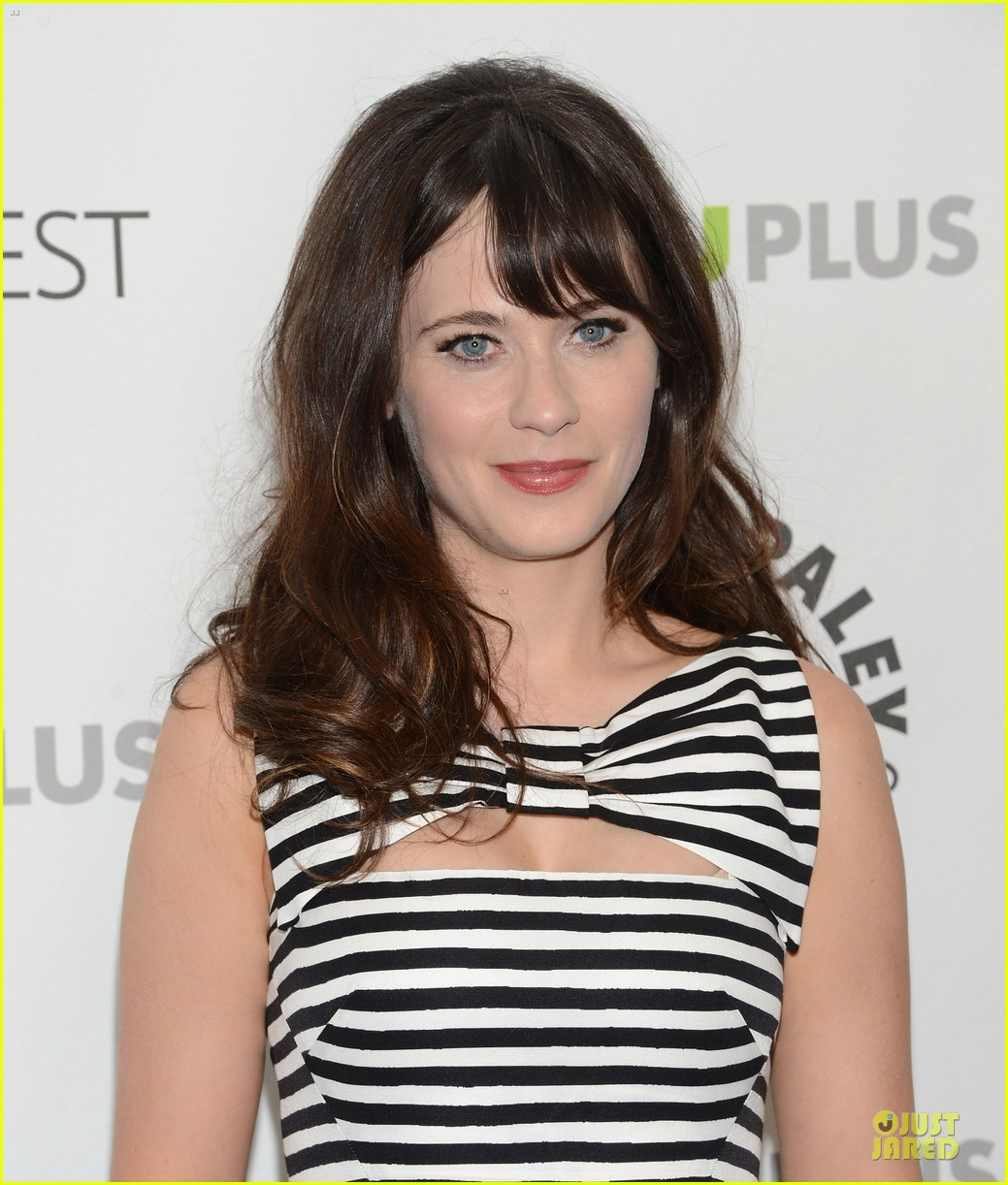 zooey deschanel paleyfest with new girl cast 162829166