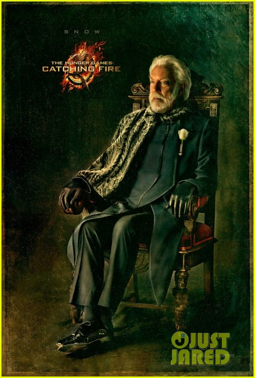 donald sutherland hunger games catching fire snow portrait 012827407