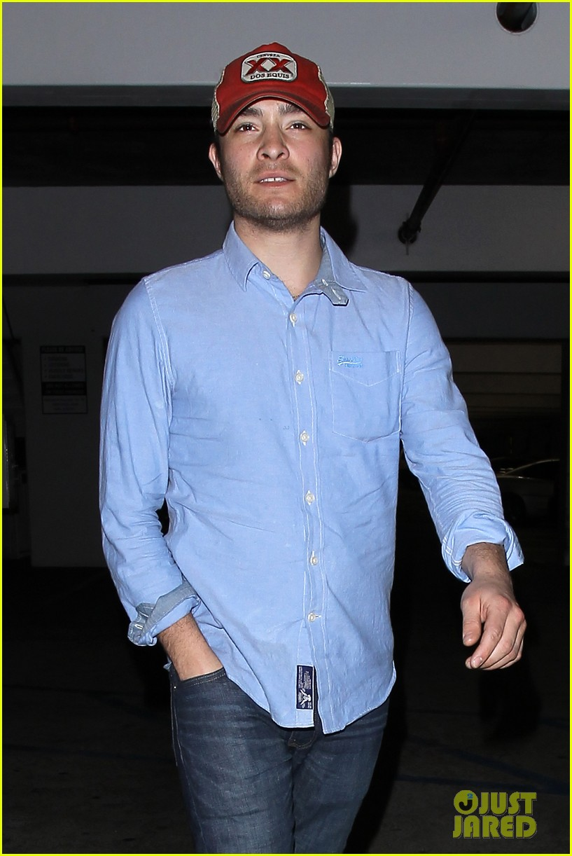 ed westwick solo movie theater outing 022838190